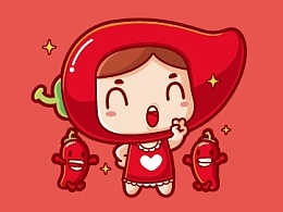 泡妞泡菜卡通形象设计