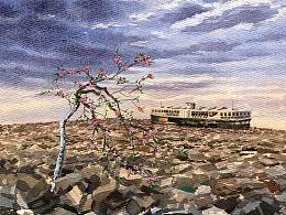 《樱花树》水彩画及步骤