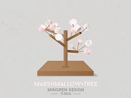 Day33- 每日设计 棉花糖树