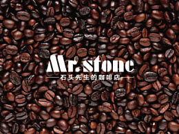 logo 咖啡 石头先生的咖啡店