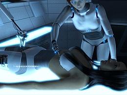 PS制作科技元素机器人GIF动态图效果