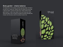 Body garden - chakra balance(三维精油包装设计)