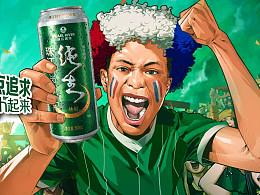 珠江啤酒2016球迷地铁海报