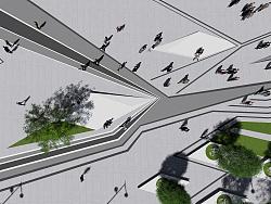 西安高新SOHO商业广场景观设计