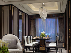 现代简欧风格,客厅装修效果图