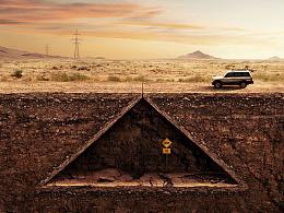 汽车海报-一路平坦系列