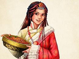 为西藏枸杞画的包装插图