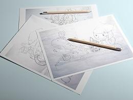 厦门本土绵绵冰第一品牌--杨小贤/形象插画设计|WakeUP Brand