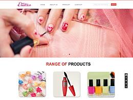 粉色外贸公司官网设计
