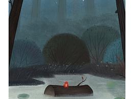森林里的小池塘