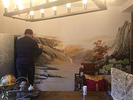 北京墙绘涂鸦3D画的绘制流程