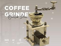 鼠绘咖啡研磨机
