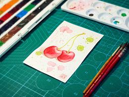水彩习作·樱桃