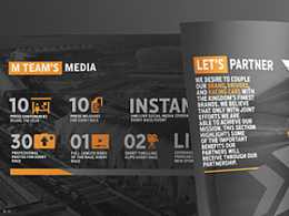 M Team Partnership Proposal Brochure Design
