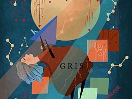 gris游戏同人绘画