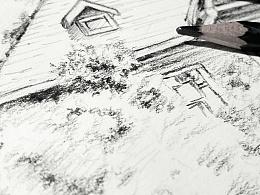 素描 速写 人物头像 风景素描菜鸟绘画习作