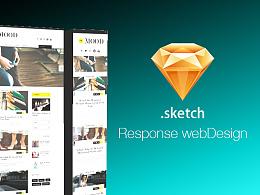 sketch响应试网站设计,源文件下载