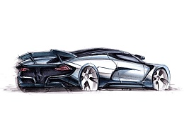 工业产品设计手绘之 超级跑车上色图~~马赛(Mars)作品【MZ产品手绘】