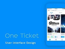 虚拟app设计 一张影票