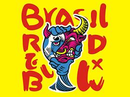 红牛&2014巴西世界杯T恤设计