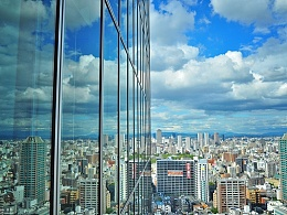在日本第一高楼,望大阪
