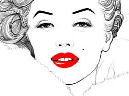 心碎的传奇—玛丽莲梦露   插画表现杂志封面