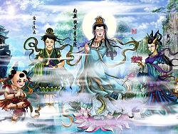 西游记人物谱--观音菩萨,惠岸行者,龙女,善财童子