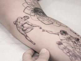 欧美精致黑灰彩色与创意纹身合集创意纹身很多都是超