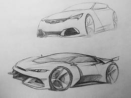 汽车设计手绘草图
