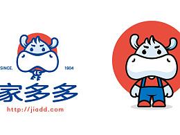 家多多房地产logo及吉祥物设计