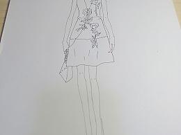 临摹女装服装设计
