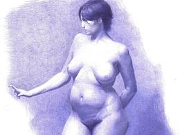 《人体》圆珠笔画