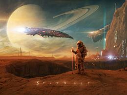 Sci-fi场景合成作品---STARDUST(附带视频演示)