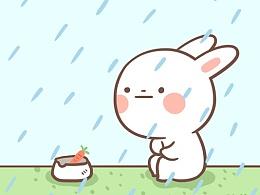 兔白白--微信表情设计