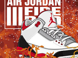 "Air Jordan III ""Fire Red"""