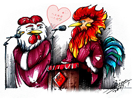 "【鸡年画鸡】人生难得""一只鸡"""