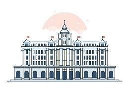 上海建筑插画设计