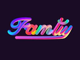 特效字 字体 字形 设计 荧光色 多彩