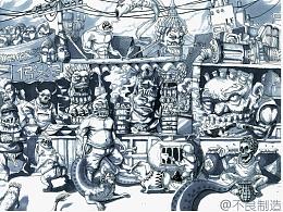 以前画的一些小怪兽