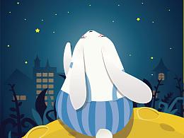 临摹--中秋小兔子