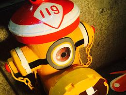 新街口消防栓街头涂鸦