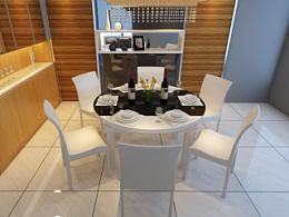 家具3D效果图-餐桌效果图