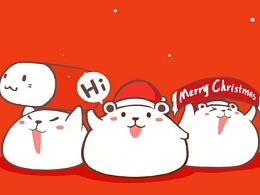 圣诞快乐!~送上新鲜出炉的小白微信表情包~