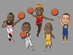 NBA playzone 球星卡通造型