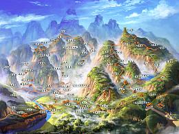 手绘青城山旅游地图