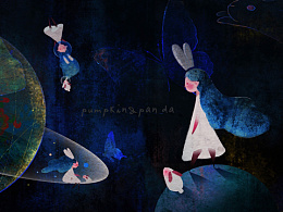 【Pumpkin&Panda】原创插画