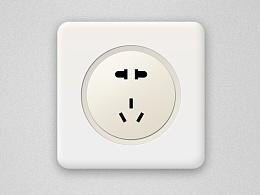 ICON,开关,插座,网线槽。