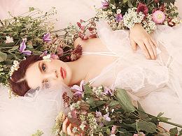 月历上的女孩,兰奕少女心婚纱作品