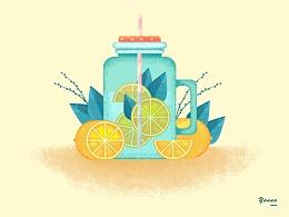 夏日冰饮柠檬茶