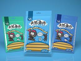 汪小星喵小美品牌-宠物火腿肠包装设计(已商用)